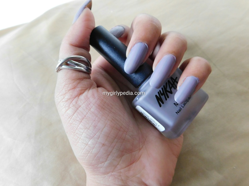 Nykaa Matte Nail Lacquer – Blueberry Frosting – Review – Mygirlypedia