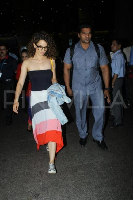 Kangana Ranaut and Jacqueline Fernandez spotted at the airport (10)