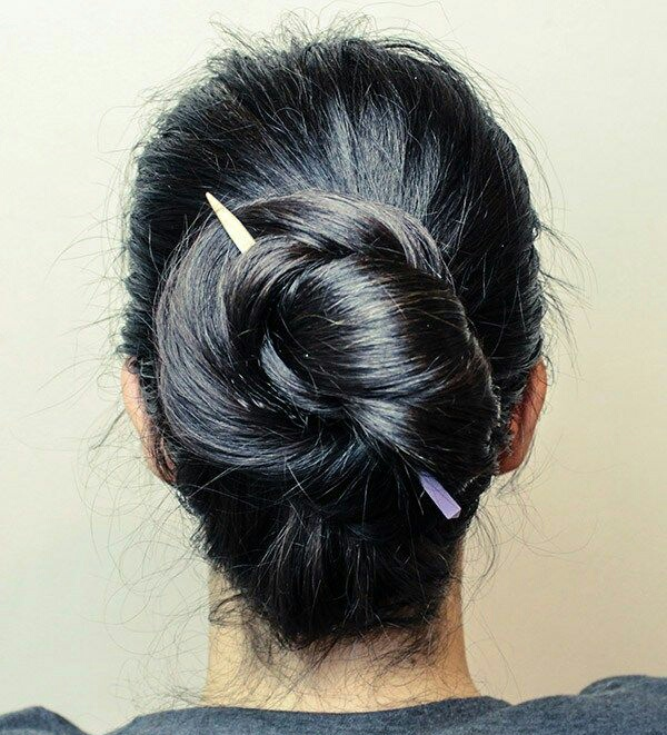 How Do I Tie My Hair Using A Hair Stick