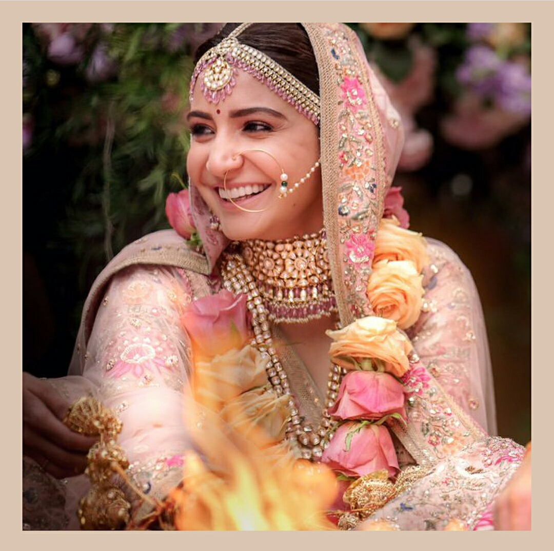 Outfit and Jewellery Details of Anushka On Her BigDay…!!!