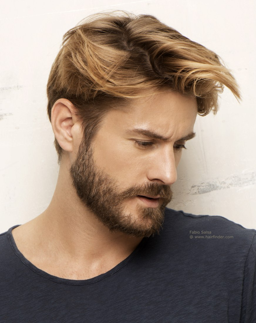 Mens Hairstyle With Beard Hd Handsome Look For Men With