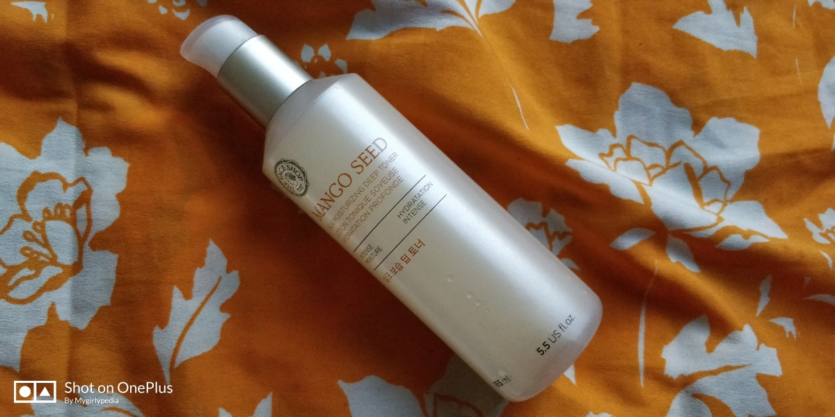 The Face Shop Mango Seed Silk Moisturizing Deep Toner : Review andSwatch